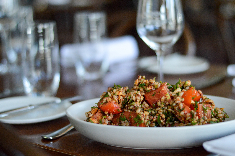 Chopped tomato, barley, almond & sumac salad   Mount Zero Olives