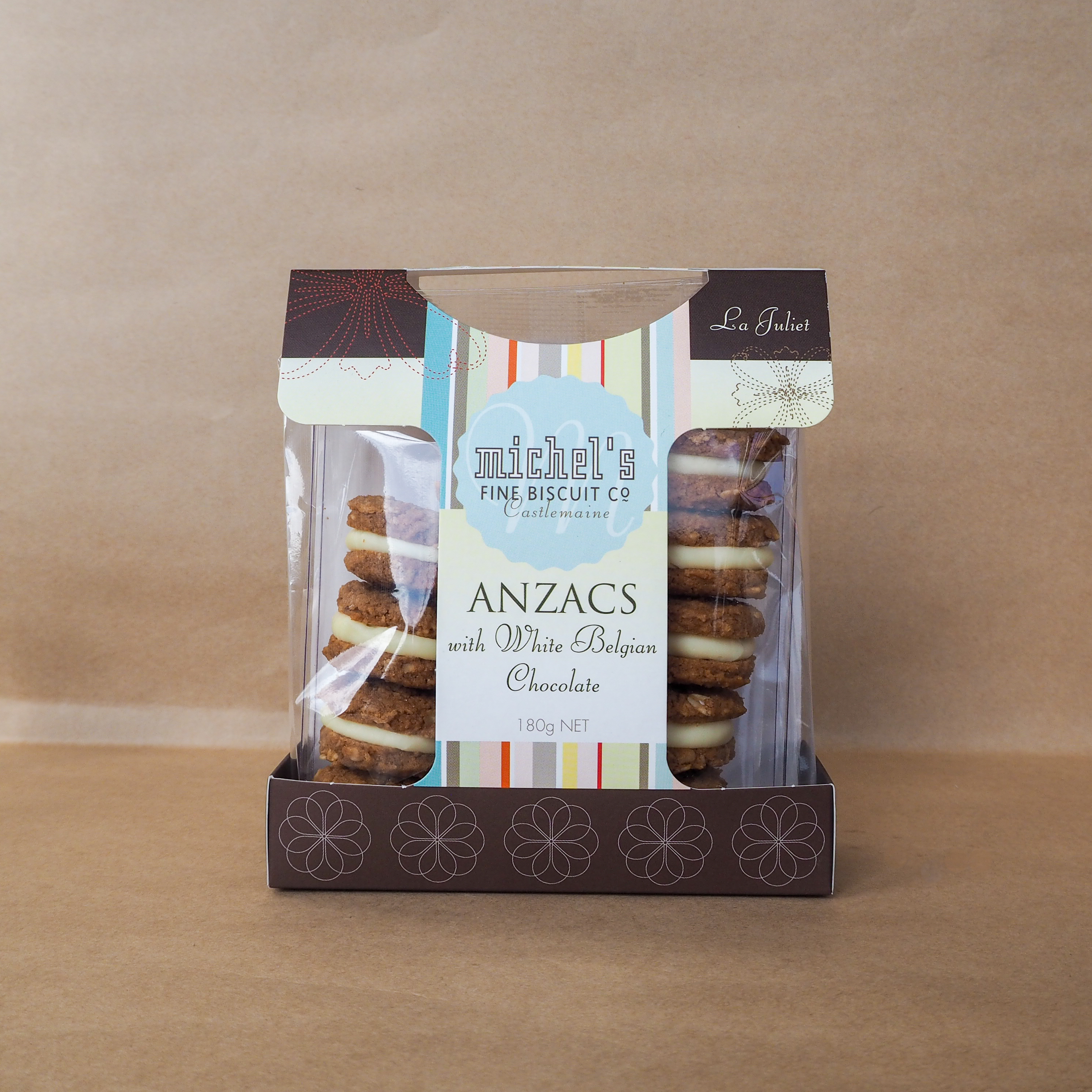 Michel's Fine Biscuit Co - Anzac & White Chocolate Biscuits