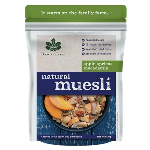 Brookfarm Natural Muesli - apple, apricot & macadamia