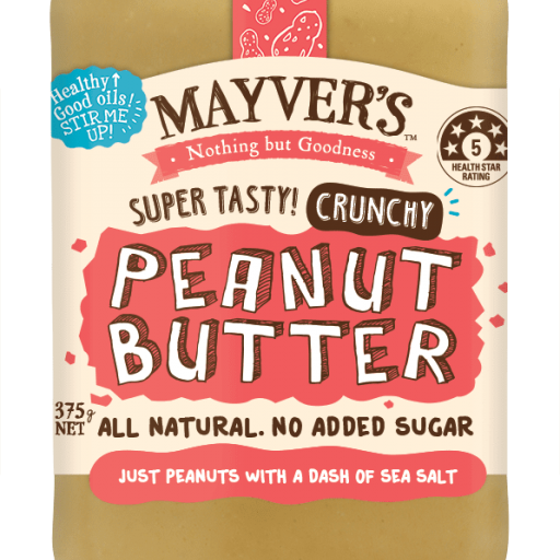 Mayvers All Natural Peanut Butter 385g