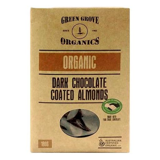 Green Grove Organic Roasted Dark Chocolate Almonds