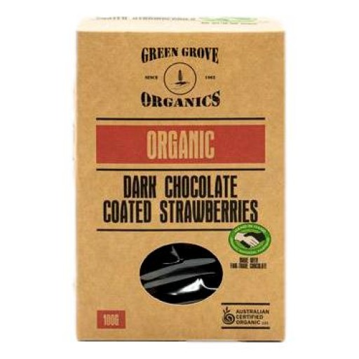 Green Grove Organic Dark Chocolate Freeze Dried Strawberries