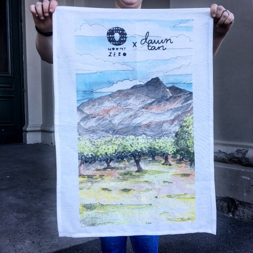 Mount Zero Grove Tea Towel