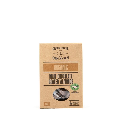 Green Grove Organic Roasted Milk Chocolate Almonds