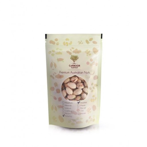 Carboor Harvest Roasted Pistachios with Pink Lake Salt