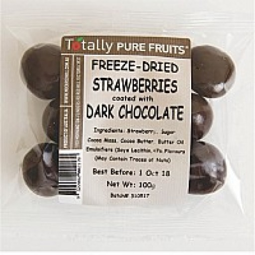 Totally Pure Fruits Dark Chocolate coated strawberry