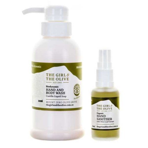 Biodynamic Hand and Body Wash 200ml and Hand Sanitiser 30ml