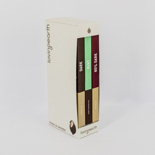Loving Earth Organic Dark Chocolate Trio - 3 x 80g