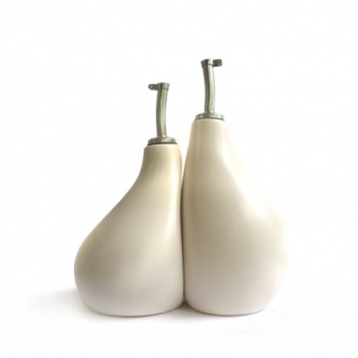 Ceramic Olive Oil & Vinegar Cruet Set